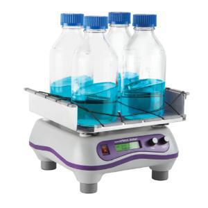Digital orbital shaker, bottles