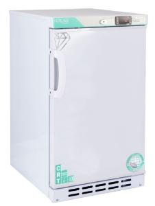 Undercounter controlled room temperature cabinet, right-hinged swing door, exterior