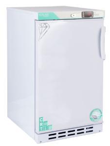 Undercounter controlled room temperature cabinet, left-hinged swing door, exterior