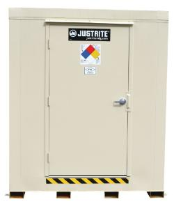 2-Drum, 2-Hour Fire-Rated Outdoor Safety Locker with Explosion Relief Panels