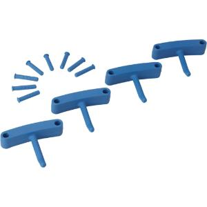Replacement Hooks for Wall Bracket, Blue