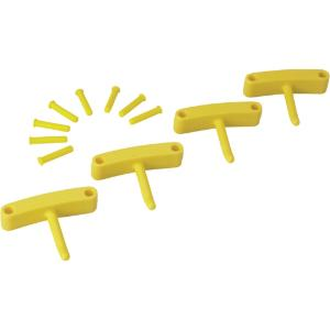 Replacement Hooks for Wall Bracket, Yellow