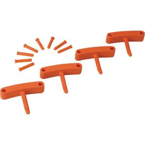 Replacement Hooks for Wall Bracket, Orange